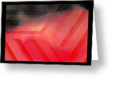 Red Corrosion Greeting Card by Eleigh Koonce