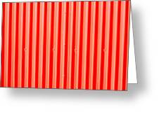 Red Corrugated Metal Greeting Card by Tom Gowanlock