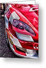 Red Corvette Greeting Card by Lauri Novak