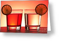 Red Drinks Greeting Card by Blink Images