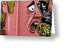 Red Face Anger Greeting Card by Yurix Sardinelly