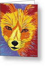 Red Fox Greeting Card by Peggy Quinn