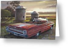 Red Galaxie Greeting Card by Todd Baxter