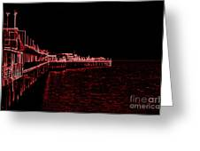 Red Neon wharf Greeting Card by Garnett  Jaeger