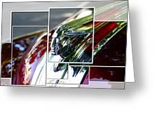Red Pontiac Hood Ornament Greeting Card by Cathie Tyler