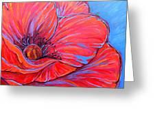 Red Poppy Greeting Card by Jenn Cunningham