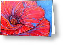 Red Poppy Greeting Card by Jenn Cunningham