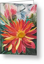 Red Red Red Greeting Card by Judy Loper