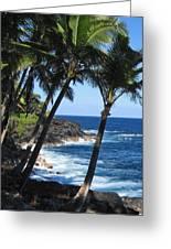 Red Road Drive On Hawaii Island Greeting Card by Kerri Ligatich
