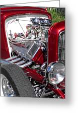 Red Roadster Hot Rod Fine Art Photo Greeting Card by Sven Migot
