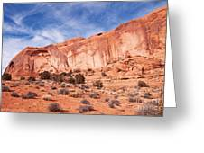 Red Rock and Blue Skies Greeting Card by Bob and Nancy Kendrick