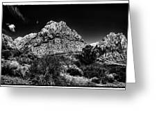 Red Rock Canyon At Spring Mountain Greeting Card by David Patterson