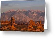Red Rock Of Arches Greeting Card by Andrew Soundarajan