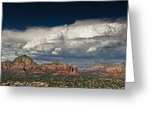 Red Rock Storm Greeting Card by Scott Faunce