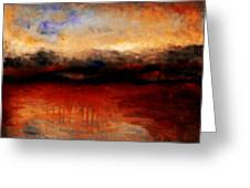 Red Skies At Night Greeting Card by Michelle Calkins