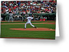 Red Sox Retiree Tim Wakefield Greeting Card by Mike Martin