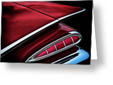 Red Tail Impala Vintage '59 Greeting Card by Douglas Pittman