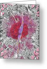 Red Tutu Greeting Card by Cynthia Sorensen