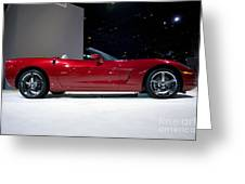 Red Vette Greeting Card by Alan Look
