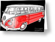 Red Volkswagen Greeting Card by Cheryl Young