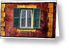 Red Wall Greeting Card by Mauro Celotti