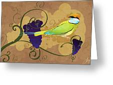 Red Wine Greeting Card by Sydney Gregory