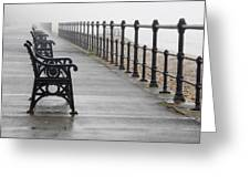 Redcar, North Yorkshire, England Row Of Greeting Card by John Short