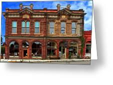 Redmens Hall - Jacksonville Oregon Greeting Card by James Eddy
