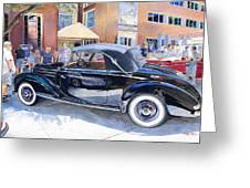 Reflecting On A Mercedes Greeting Card by Mike Hill