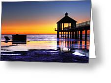 Reflecting The Night Greeting Card by Pixel Perfect by Michael Moore