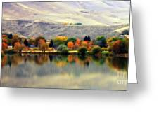 Reflection Of Fall In Prosser Greeting Card by Carol Groenen