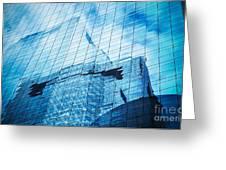 Reflection Of Skyscraper  Greeting Card by Setsiri Silapasuwanchai