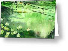 Reflections 1 Greeting Card by Anil Nene