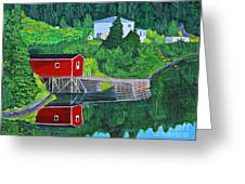Reflections H D R Greeting Card by Barbara Griffin