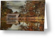 Reflections Of Autumn Greeting Card by Robin-lee Vieira