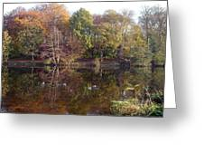 Reflections Of Autumn Greeting Card by Rod Johnson