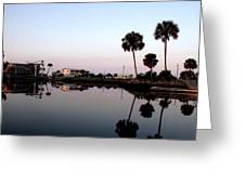 Reflections Of Keaton Beach Marina Greeting Card by Marilyn Holkham
