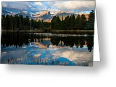 Reflections On A Lake Greeting Card by Anne Rodkin