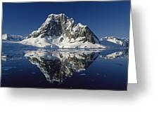 Reflections With Ice Greeting Card by Antarctica