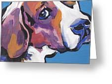 Regal Beagle Greeting Card by Lea