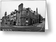 Regent Quay And Marischal Street Aberdeen Scotland Uk Greeting Card by Joe Fox