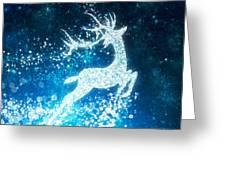 Reindeer Stars Greeting Card by Setsiri Silapasuwanchai