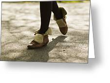 Relaxed Step Greeting Card by Marcio Faustino
