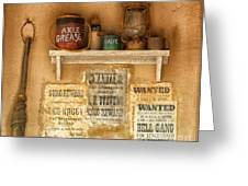 Relics Of The Old West Greeting Card by Sandra Bronstein