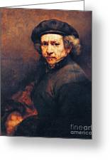 Rembrandt Self Portrait Greeting Card by Pg Reproductions