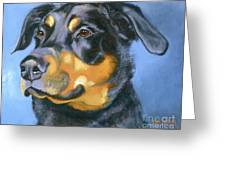 Rescue In Blue Greeting Card by Susan A Becker