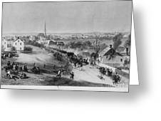 Retreat Of British From Concord Greeting Card by Photo Researchers
