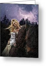 Return To Camelot Greeting Card by Sally Carpenter