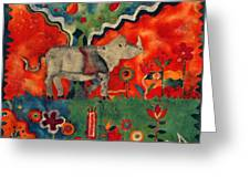Rhino Greeting Card by Sandra Kern