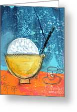 Rice And Tea Greeting Card by Linda Woods